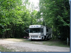 7118 Restoule Provincial Park - Kettle Point Campground - our motorhome in our campsite # 404