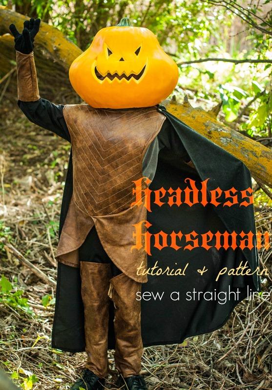 headless horseman costume sew a straight line