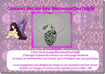 Concours 100 fans Facebook