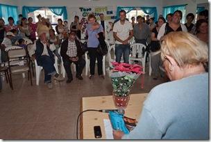 Gloria Lopresti compartió detalles de su vida en un encuentro con jóvenes en el Centro Comunitario de San Bernardo