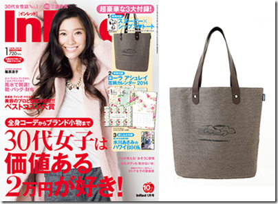 In Red (2014 Jan Issue) with Snoopy tote