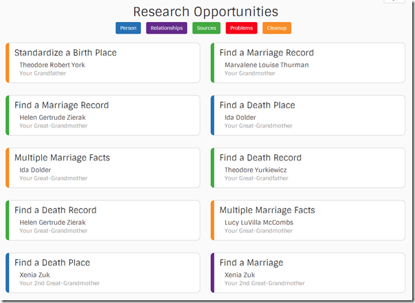 Find-a-Record research opportunities