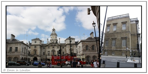 Horse Guards and Inigo Jones Banqueting House Whitehall