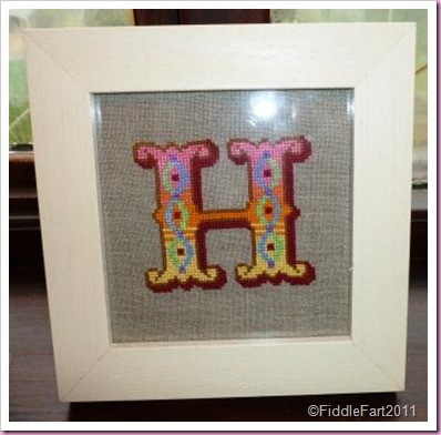 cross stitch initial H