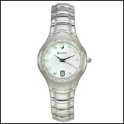 Diamond Accented Round Watch