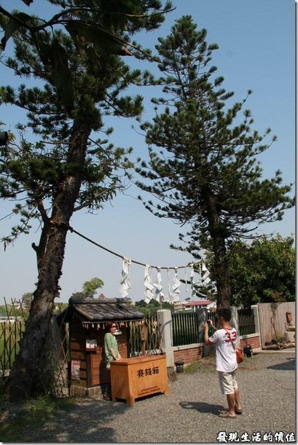 台南-夕遊出張所-百年夫妻樹:夕遊夫妻樹從1922年起至今約九十年的時間,彼此依偎,陪伴「安平分室」戊守塩景至今,相傳情侶在夫妻樹旁許下心願,可以帶來象徵幸福美滿的祝福。不過我們是覺得台南孔廟後面「山林事務所」的夫妻樹更有看頭。