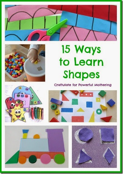 shape activities for kid - here are 15 fun, hands on ways for toddlers and preschooler to learn about shapes