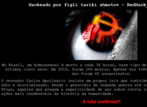 hackers site Carlos Apolinário (DEM)