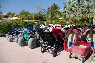 You can use special strollers, wagons and wheelchairs to get around the beach and sand.