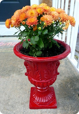 red-outdoor-planter