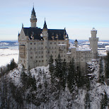 neuschwanstein castle on a winter landscape in Füssen, Bayern, Germany