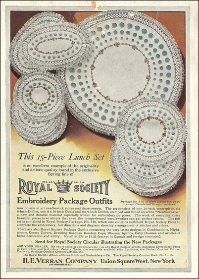 Royal Society Embroidery Kits HN 216