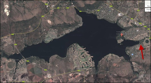 HARTBEESPOORT DAM 1 POLLUTION HIDDEN BY GOOGLE