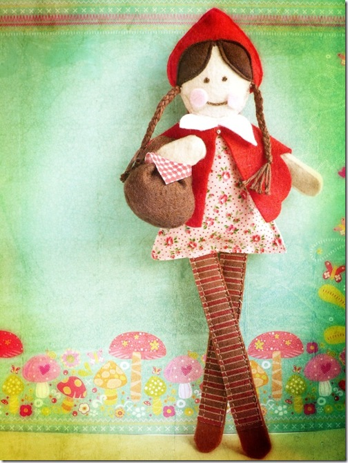 cafe creativo - Little Red Riding Hood Doll (1)
