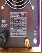 ตู้เชื่อมไฟฟ้า TIG185 spec หลัง