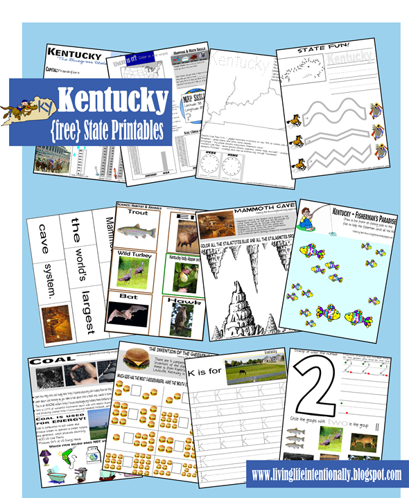Kentucky Worksheets for Kids