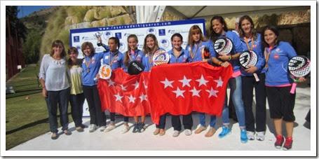 Campeonas Femeninas 1ª Categorias Comunidad de Madrid Campeonato España Selecciones Autonómicas 2013