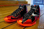 nike lebron 11 gr black red 11 05 New Photos // Nike LeBron XI Miami Heat (616175 001)