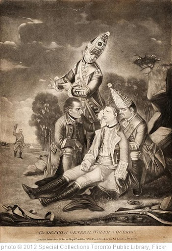 'The Death of General Wolfe at Quebec (1759)' photo (c) 2012, Special Collections Toronto Public Library - license: http://creativecommons.org/licenses/by-sa/2.0/