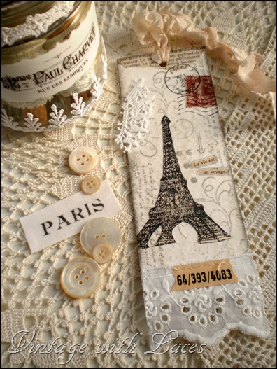 Handmade bookmark: Paris