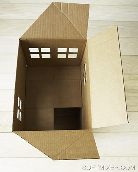 Домики для кошек своими руками из картона фото