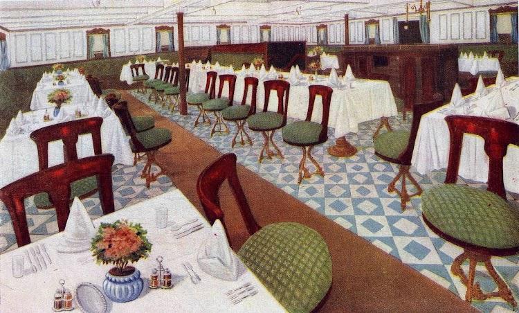 Comedor de segunda clase. Panfleto publicitario.jpg
