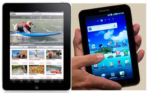 Qual é o Melhor Tablet iPad ou Galaxy? O Galaxy faz ligação, tem tv, câmera, suporte Flash e o iPad não.