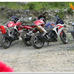 First CBR 250 R in dangerous Old Silk Route East Sikkim