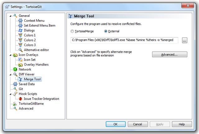kdiff3 as merge tool