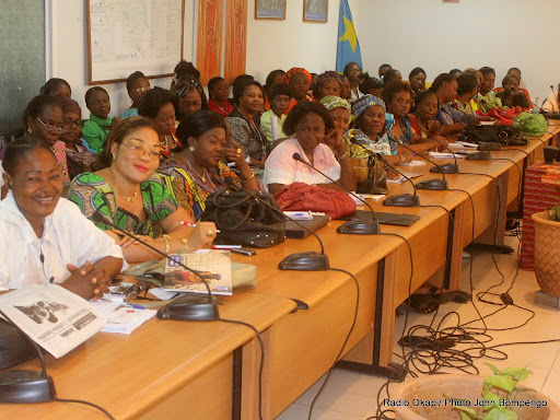 Des femmes candidates aux lgislatives 2011, lors dun atelier de formation au Pnud le 26/09/2011  Kinshasa. Radio Okapi/ Ph. John Bompengo