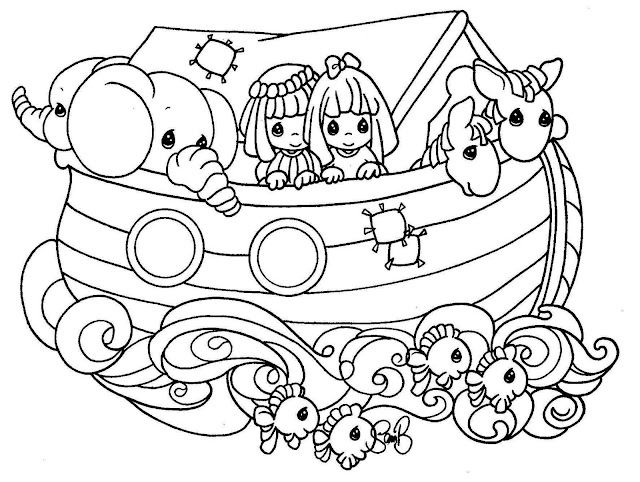 NOAH\'S ARK COLORING PAGES