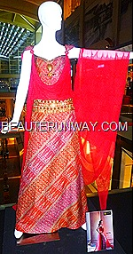 Alleira couture batik dress Marina Bay Sands Singapore