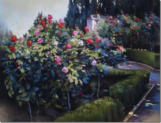 Jardines del Generalife-German-Aracil-Enkaustikos