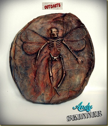 andy skinner fossil fairy altered art outcasts