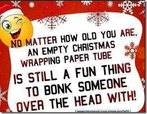 empty wrapping paper tube