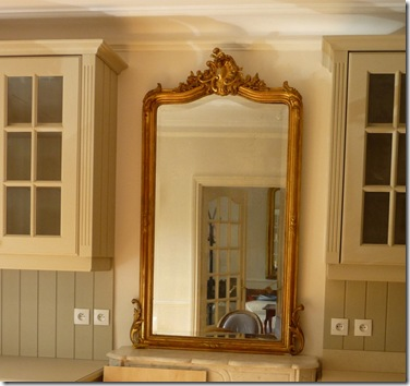 Mirror over mantel