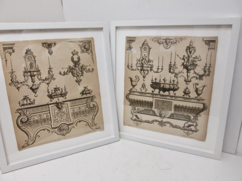 Furniture Design Antique Print Pair