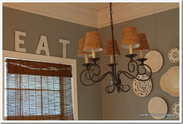 Ballard Inspired seagrass chandelier shades