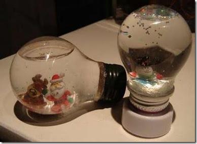 El rinc n de edreya reciclar antiguas bombillas para - Decoraciones navidenas con reciclaje ...