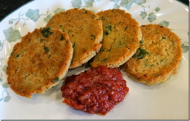 Red Lentil Patties with Spicy Tomato Jam