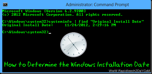 How to Check Original Install Date of Windows