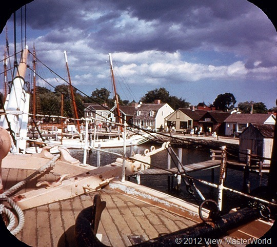 View-Master Connecticut (A750), Scene 21: Mystic Seaport