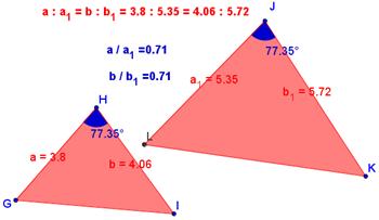 2° criterio di similitudine triangoli