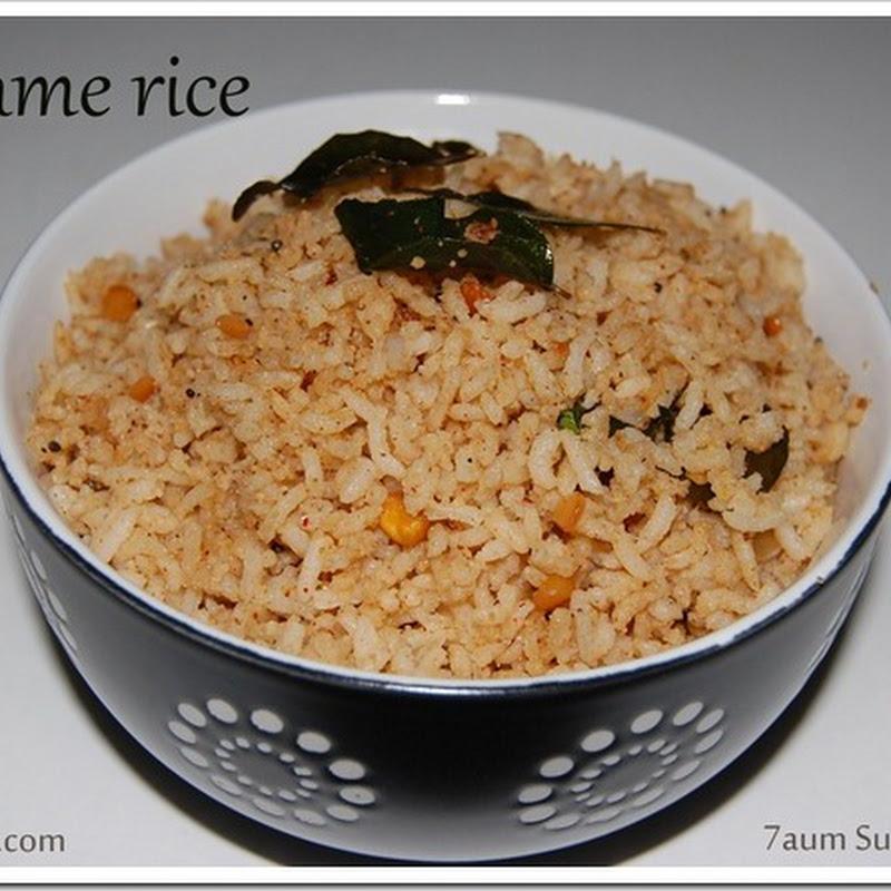 Sesame rice/ Ellu sadham