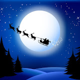 Santa`s sleigh - vector.All elements are grouped in layers.