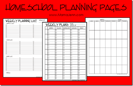 My Homeschool Planning Pages