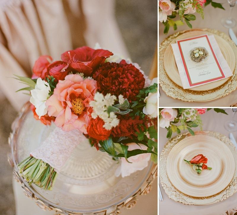 2OakandtheOwl_Red Tree Peony Bridal Bouquet