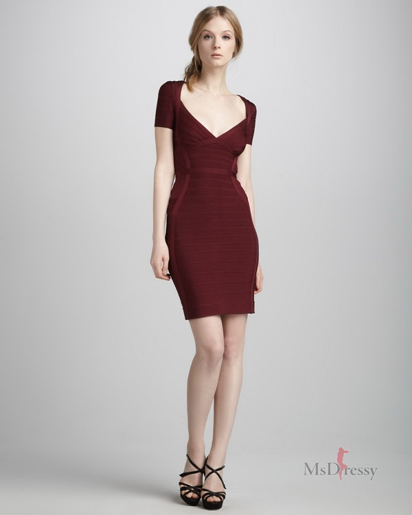 sheath-column-v-neck-satin-short-mini-claret-zipper-dressjpzipper130
