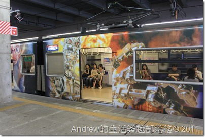 日本環球影城-彩繪火車車廂
