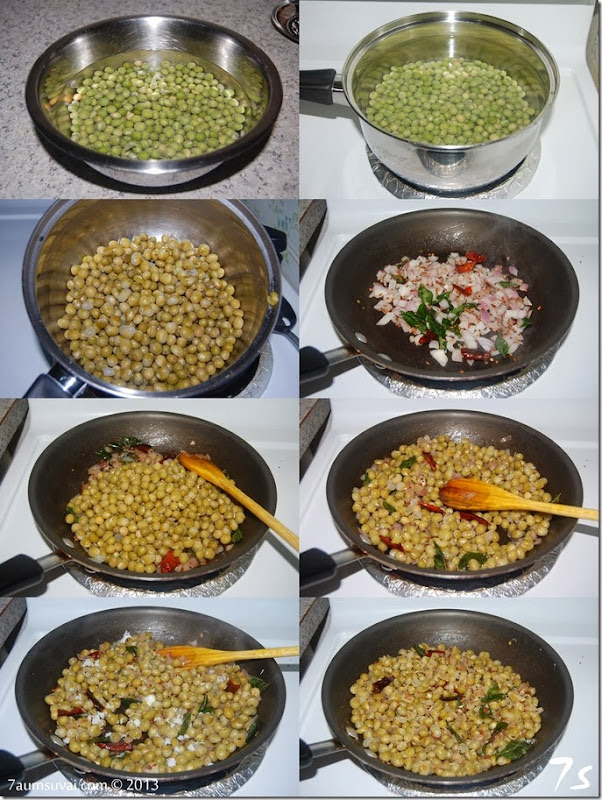 Green peas sundal process
